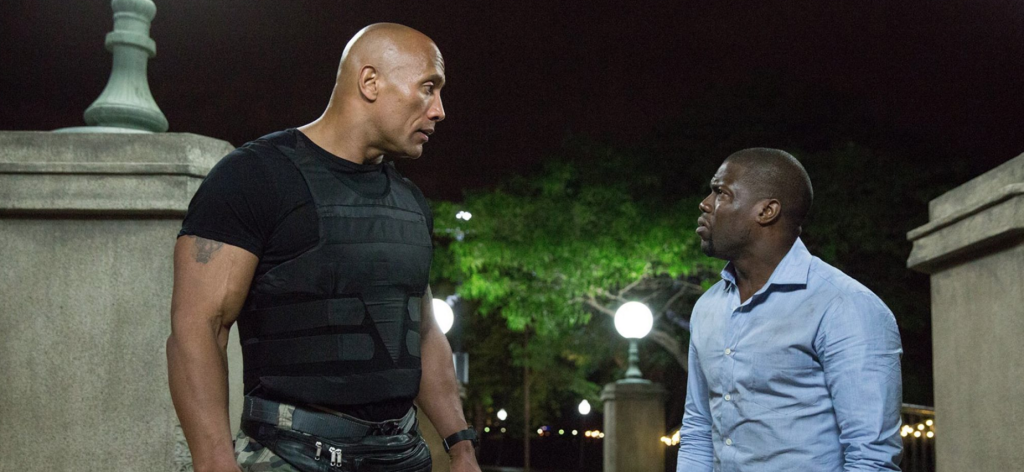 "Dwayne Johnson and Kevin Hart in ""Central Intelligence"""